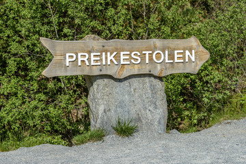 Preikestolen Sign in Norway
