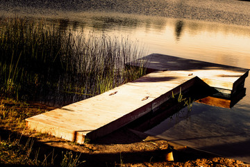 dock on northern michigan lake