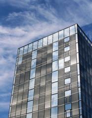 immeuble moderne vitré