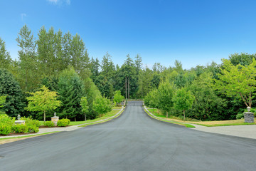 Driveway in residential complex. Washington state