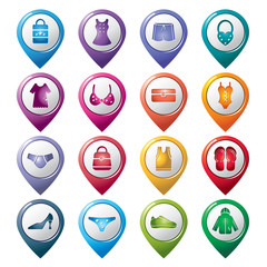 Clothing and Accessories Pointer Icons