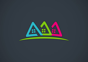 home house icon vector logo