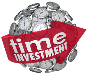 Time Investment Words Arrow Clocks Sphere Manage Resources