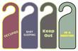 Set warning door knob