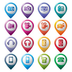 Photography and Sound Pointer Icons