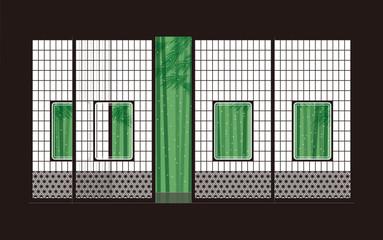 障子と竹 和室