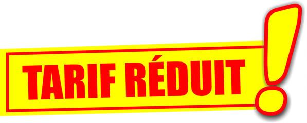 étiquette tarif réduit