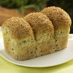 Bun of sesame bread