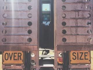 oversize road train