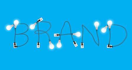 Brand concept creative light bulb idea