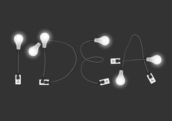 Creative design light bulb idea
