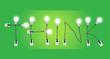 Think concept creative light bulb idea