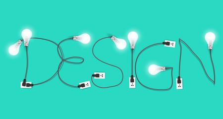 Creative design light bulb idea inspiration concept