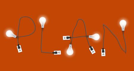 Plan concept creative light bulb idea