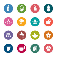 Beauty and Cosmetic Color Icons