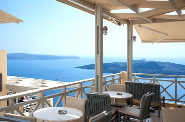 Cafe in Santorini