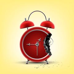 bitten red clock