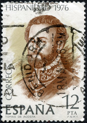stamp printed by Spain, shows Tomas de Acosta