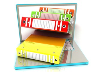 concept of folders in the laptop