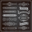 Vintage design elements - banners, frames and ribbons, chalkboar - 68865818