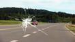 Leinwanddruck Bild - Steinschlag v-windschutzscheibe h-strasse - 16 zu 9 - g1084