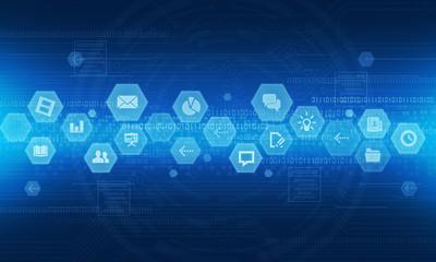 Internet technology online business  background