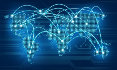 Abstract global business internet communication  background