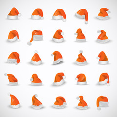 Santa Claus Hat - Isolated On Gray Background