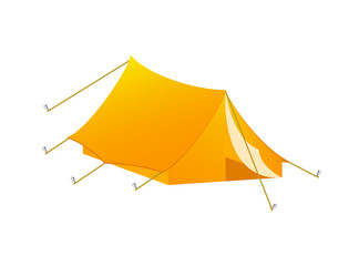 Camping tent in orange design