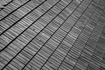 Old roof wooden tile background