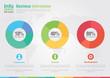 Business pie chart infographic. Business report creative marketi