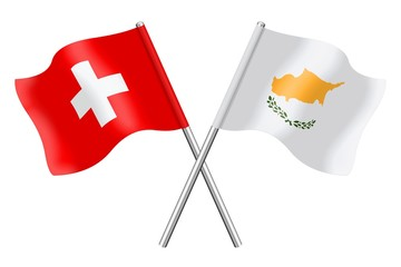 Flags: Switzerland and Cyprus