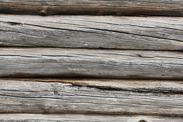 texture of old wooden wall, logs