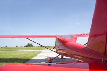 Small plane preparing to take off