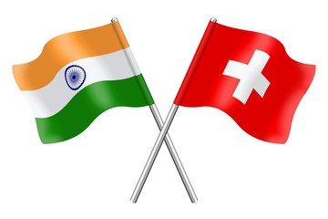 Flags: Switzerland and India