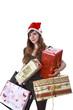 Frau mit Weihnachtspräsenten