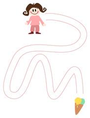 Schwungübung: Mädchen + Eis