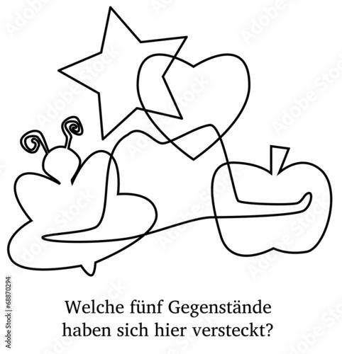 Kinderrätsel: Formen finden - 68870294