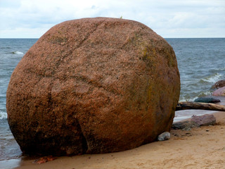 Giant rock on a beach