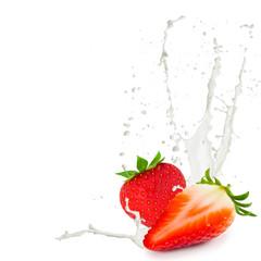 Milk splash strawberry