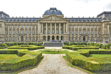 Royal Palace in historical center of Brussels, Belgium