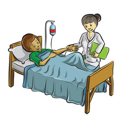 doctor helping a patient