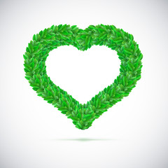 Heart, made up of green leaves