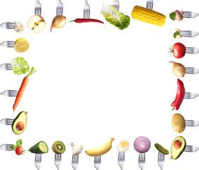 Rahmen aus Gemüse mit Textfreiraum