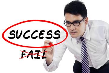 Businessman choose to success