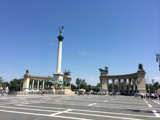 Place des Héros budapest hongrie