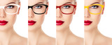 Woman's collection of sunglasses color and rim design - 68873408