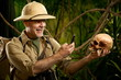 Souvenir photograph in the jungle