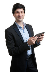 Young Business Man Using Digital Tablet