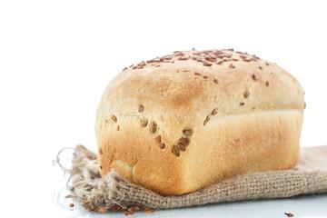 fresh homemade corn bread with seeds